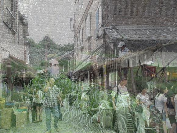 現代アート,作品,写真,菓子屋横町,新河岸川