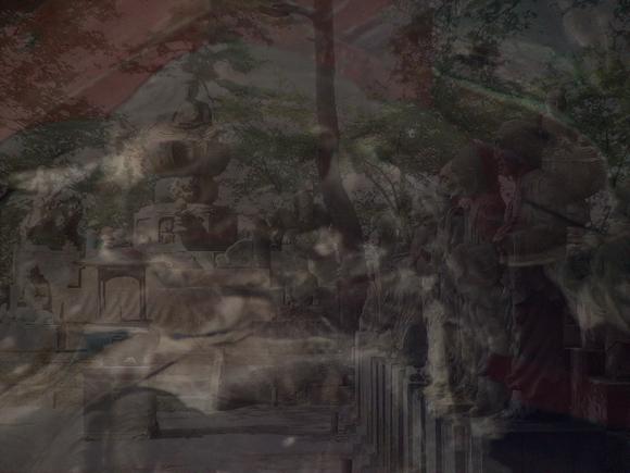 現代アート,作品,写真,五百羅漢,喜多院,三芳野神社